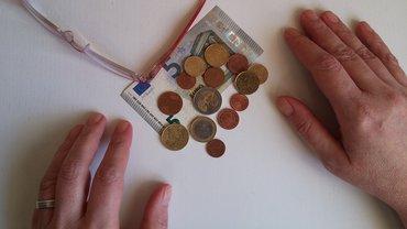 Geldnot wenig Geld knapp Geringverdiener Niedriglohn